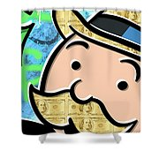 Mr Monopoly Shower Curtain