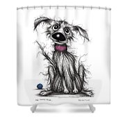 Mr Mucky Paws Shower Curtain
