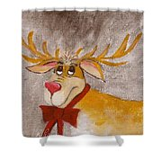 Mr Reindeer Shower Curtain