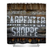 Mr. Sawyer Wood Shower Curtain