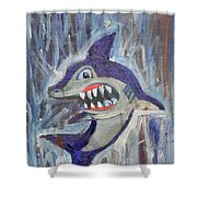 Mr. Shark Shower Curtain