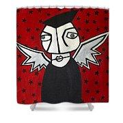 Mr.creepy Shower Curtain by Thomas Valentine