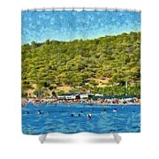 Megalo Kavouri Beach Shower Curtain