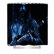 Mrmt #70 Enhanced In Blue Shower Curtain