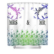 Mrs And Mr Shower Curtain