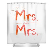 Mrs And Mrs Shower Curtain