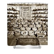 Mrs. Butts Mortar And Pestle Collection Found In San Benito Co. Shower Curtain
