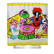 Mrs. Mouse Tea Party Shower Curtain