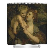 Mrs Hartley As A Nymph With A Young Bacchus Shower Curtain