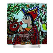 Love And Worship For Cow Shower Curtain