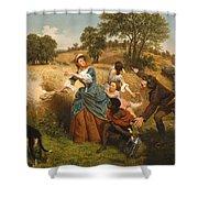 Mrs Schuyler Burning Her Wheat Fields Shower Curtain