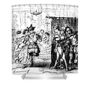 Mrs Sextus Consoles Herself With A Little Party Shower Curtain
