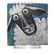Mrs Sheep Shower Curtain