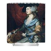 Mrs Siddons. British Actress Sarah Shower Curtain