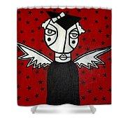 Mrs.creepy Shower Curtain by Thomas Valentine