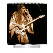 Mrsea #48 Enhanced In Amber Shower Curtain