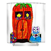 Ms. Bunny's Carrot House Shower Curtain