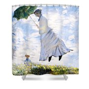 Ms Monet Blown Away  Shower Curtain