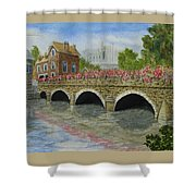 Ms23 French Stone Bridge  Shower Curtain