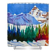 Mt. Athabasca, Jasper Shower Curtain