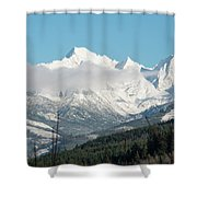 Mt Baker And Clouds Shower Curtain