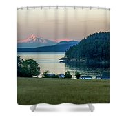 Mt Baker At Sunset Shower Curtain