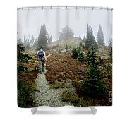Mt Brown Lookout - Glacier National Park Shower Curtain
