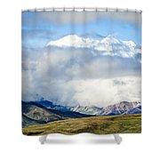 Mt Denali In The Clouds Shower Curtain