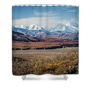 Mt Denali View From Eielson Visitor Center Shower Curtain