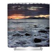 Mt. Edgecumbe Sunset Shower Curtain