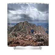 Mt Eolus And The Catwalk From North Eolus - Chicago Basin - Weminuche Wilderness - Colorado Shower Curtain