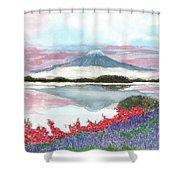 Mt. Fuji Morning Shower Curtain
