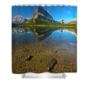Mt. Grinnell Shower Curtain by Gary Lengyel