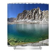Mt Hitchcock Over Lower Hitchcock Lake 2 - Sierra Shower Curtain