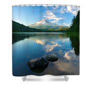 Mt. Hood Cirrus Explosion Shower Curtain