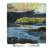 Mt Hood Dazzle Shower Curtain