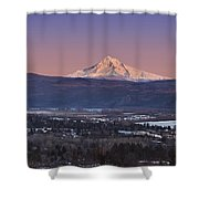 Mt. Hood From Camas Shower Curtain