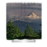 Mt Hood From Grassy Knoll Shower Curtain