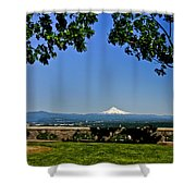 Mt Hood From Rocky Butte Shower Curtain