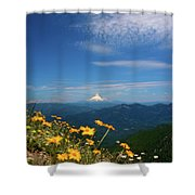 Mt. Hood In The Distance Shower Curtain