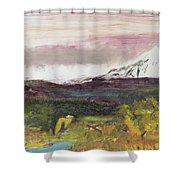 Mt Hood Mirage Shower Curtain