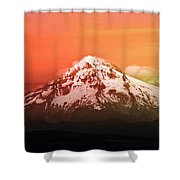 Mt Hood Oregon Sunset Shower Curtain by Aaron Berg