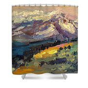Mt Hood View From Chinook Landing Shower Curtain