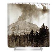 Mt. Lassen In Eruption Oct. 6, 1915 Shower Curtain