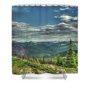 Mt. Marston Scenic View Shower Curtain