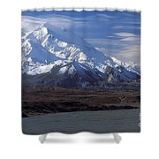 Mt. Mckinley And Lenticular Clouds Shower Curtain
