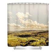 Mt Mee Vintage Landscape Shower Curtain
