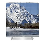 Mt Moran From Oxbow Bend Shower Curtain
