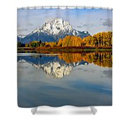 Mt Moran From The Ox Bow Shower Curtain