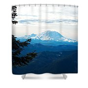 Mt Rainier And Lenticular Cloud Shower Curtain